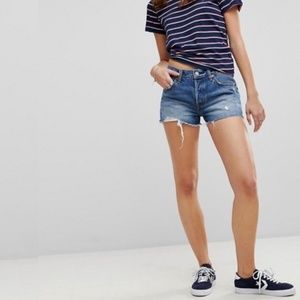 Make Offer LEVIS 501 High Rise Cutoff Jean Shorts